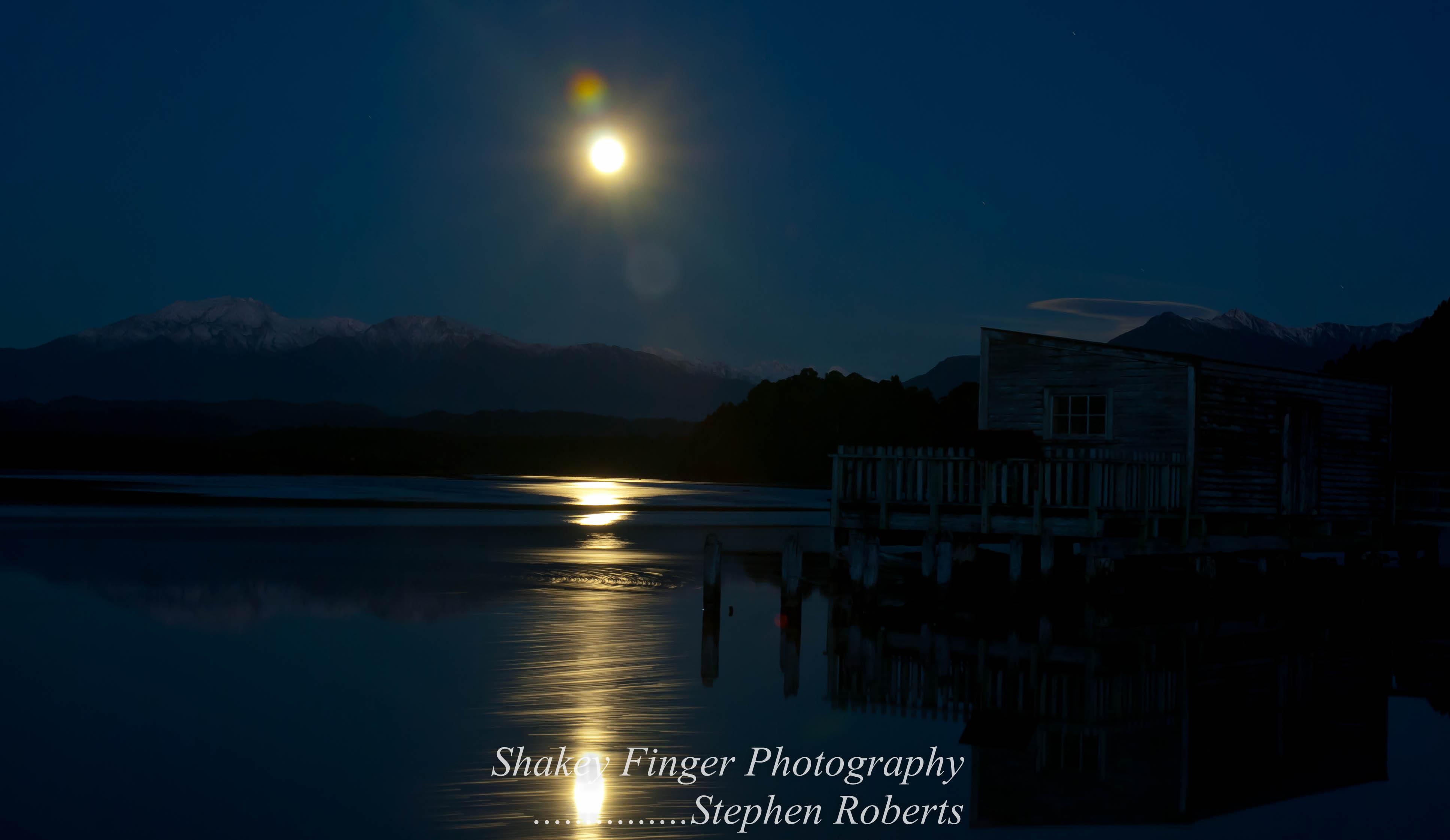 Okarito and its moon river   coastingnz