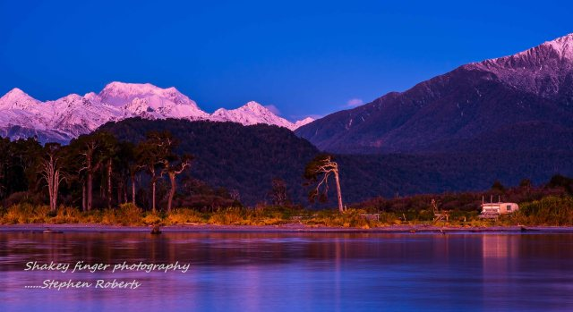 Mt cook as the sunsets jacobs river